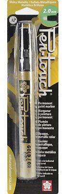 Sakura 41581 Pen-Touch Gold 2mm Medium Metallic Permanent Paint Marker Pen Touch Metallic Marker