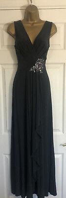 JENNY PACKHAM NAVY MAXI EMBELLISHED DRESS WEDDING OCCASION BRIDESMAID UK 10