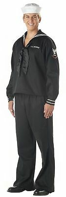 Navy Sailor Military Man Officer Uniform Adult Mens Halloween Costume Patriotic ](Sailor Halloween Costume Man)