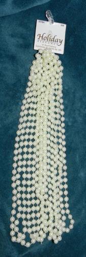 NEW BEAUTIFUL OFF WHITE BEAD GARLAND! 18 FEET LONG!