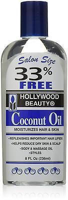 [Hollywood Beauty] Aceite de Coco Hidrata Cabello y Piel 237ml