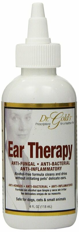 Ear Therapy Treats Bacterial Fungal Yeast Infections Redness Swelling Dogs Cats