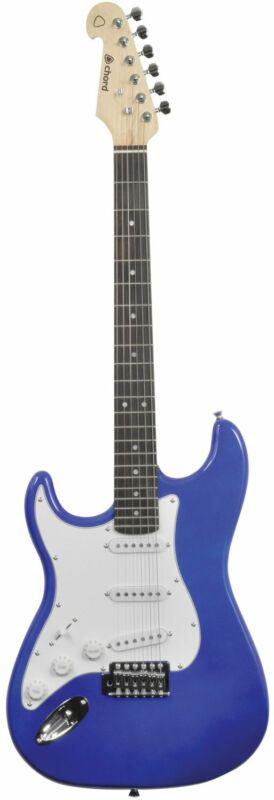 CAL63 Left Handed Electric Guitar Metal Blue