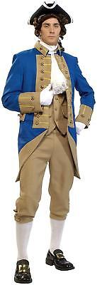 George Washington Colonial Founding Father Fancy Dress Halloween Adult Costume