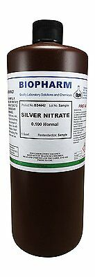 Silver Nitrate 0.100 Normal Standard Solution 1 Quart 950 Ml