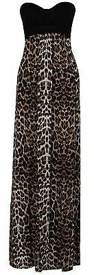 e griechischen Boob Animal Print Lange Maxi Kleid 36-54  (Griechische Frau Kleid)
