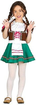 l Deutsches Bayrisches Oktoberfest Beer Kostüm Kleid Outfit (Traditionelle Deutsche Mädchen-outfit)