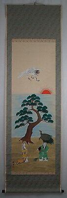 Rollbild Japan Gemälde Bild Kakemono Makuri Kakejiku Scroll Picture Asia 271