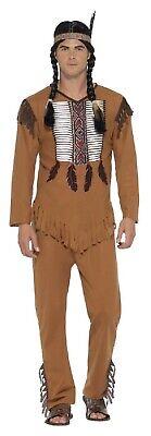 Herren Indianer Krieger Indian Wilder Westen Kostüm Kleid - Krieger Kostüme Weste