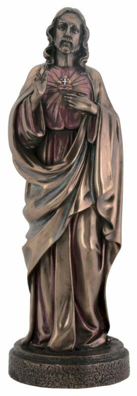 Large Sacred Heart Jesus Bronze Statue Figurine Religious Christianity Décor New