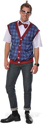 Nerd Guy School Class Geek 50's Boy Fancy Dress Up Halloween Adult Costume - Guys Nerd Costume