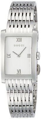 GUCCI Quartz G Metro Silver Dial Women Ladies Watch Stainless YA086405