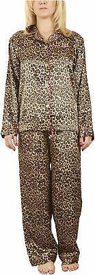 Intimo Womens Pajama Set Big Size Ladies Leopard Print 2X