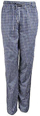 Baumwolle Gewebte Hose (MG-1 gewebte Pyjamahose Schlafanzug Hose Homewear marine blau weiß kariert)