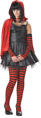 Little Dead Riding hood  goth Womans Adult XS teen 3-5 Halloween costume Red