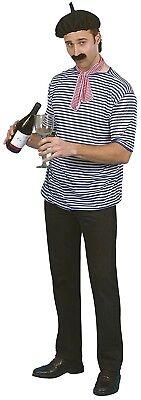 Herr Frankreich Kostüm (Herren Französisch Man International Frankreich Kostüm Kleid Outfit Zubehör Set)