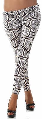 Leggings Hose lang Leggins Shorts Gogo Strumpfhose Größe 34 36 38 gold grau