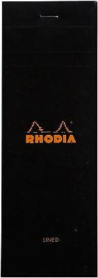 Rhodia Staplebound - Notepad - Black - Lined - 80 Sheets - 3 X 8.25 - New R86009