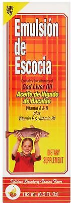Emulsion De Escocia Cod Liver Oil  Strawberry Banana Flavored 6 50 Oz