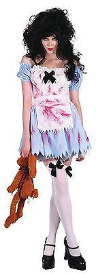 Damen Sexy Zombie Toter Alice Im Wunderland Halloween Kostüm Kleid (Zombie Alice Kostüm)