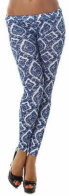 Damen Leggings Hose lang Shorts bunt farbig Gogo Strumpfhose Größe 38 40 42 44