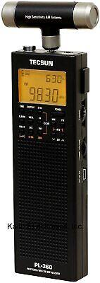 Used Tecsun PL-360 Digital PLL Portable AM/FM Shortwave Radio with DSP