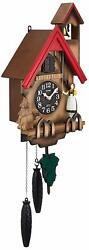 Wall Clock Cuckoo Rorian R Full-fledged bellows type rhythm clock NEW F/S