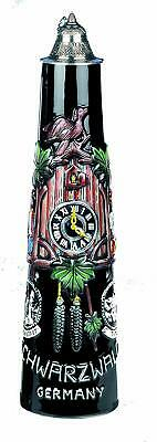 Relief Beer Mug -schwarzwald Cuckoo Clock Pinte - Germany Tin Lid Limited