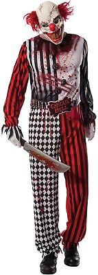Mens Adult Killer Dead Clown + Mask Film Halloween Fancy Dress Costume Outfit - Halloween Costumes Dead Clowns