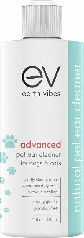 Earth Vibes Advanced Natural Ear Cleaner For Dogs and Cats