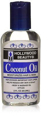 [Hollywood Beauty] Aceite de Coco Hidrata Cabello y Piel 59ml