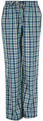 Baumwolle Gewebte Hose (MG-1 gewebte Pyjamahose - Schlafanzug - Hose, Homewear blau grün weiss gelb)