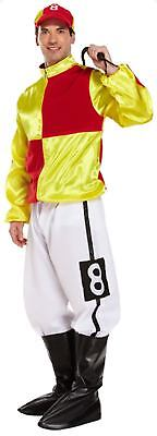 Jockey Silks Fancy Dress Dressing Up Outfit Horse Racing Costume Adult Male - Horse Racing Kostüm