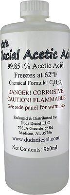 Glacial Acetic Acid 1 Qt 950 Ml Food Grade Pure C2h4o2 Chemical Vinegar Ethanoic