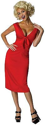 Marilyn Monroe Niagara Hollywood Starlet Red Dress Sexy Adult Halloween Costume (Marilyn Halloween Kostüme)