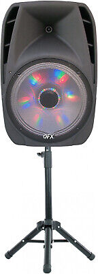 QFX 15 Portable Bluetooth Party Loudspeaker With Wireless Microphone And Stand Party Portable Bluetooth