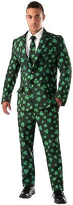 Shamrock Suit St Patrick's Day Green Clover Fancy Dress Halloween Adult Costume