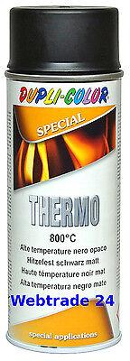 1x Hitzelack Hochtemperatur Auspufflack Motorlack Grill schwarz matt bis 800°C