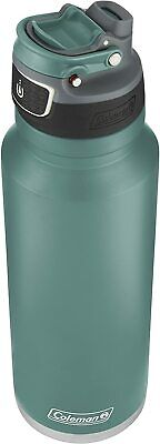 Coleman FreeFlow Autoseal Insulated Stainless Steel Water Bottle, Seafoam, 40