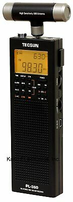 Tecsun PL-360 Digital PLL Portable AM/FM Shortwave Radio with DSP Black