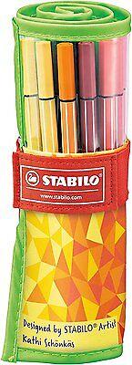 STABILO 6825-02 Fasermaler Filzstifte Pen 68, 25er Rollerset FAN EDITION