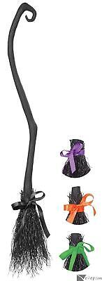Halloween Costumes With Black (California Costumes Halloween Witch Broom with Colored Ribbons,)