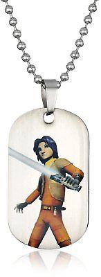 Star Wars Rebel Ezra Dog Tag Pendant Necklace