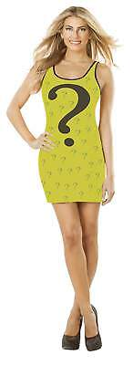 The Riddler Adult Large Tank Dress Justice League Rubie's Costume DC Comics  (The Riddler Womens Costume)