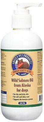 Grizzly Salmón Aceite 250ml Perro Gato Salud Suplemento Piel Coat Inmune Sistema
