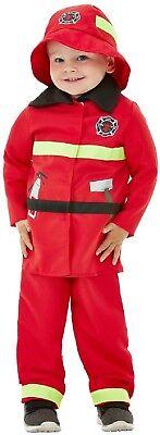 Jungen Mädchen Rotes Feuer Fighter Man Rettungsdienste Kostüm Kleid Outfit (Mädchen Fighter Kostüm)