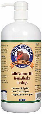Grizzly Salmón Aceite 1000ml Perro Gato Natural Salud Piel Abrigo Inmune Sistema