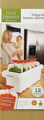Infantino Freezer Sleeve, Holds 12 Squeeze Pouches of your Fresh Baby Puree Food