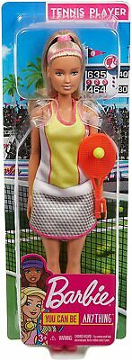 Mattel GJL65 Barbie Muñeca Tennisspielerin (Rubia) Atleta Karriere-Barbie Nuevo