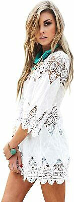 Jeasona Women's Bathing Suit Cover Up Lace Crochet Pool Swim